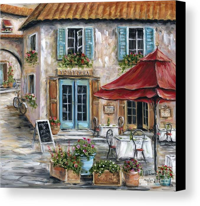 Tuscan Trattoria Canvas Print Canvas Art By Marilyn Dunlap