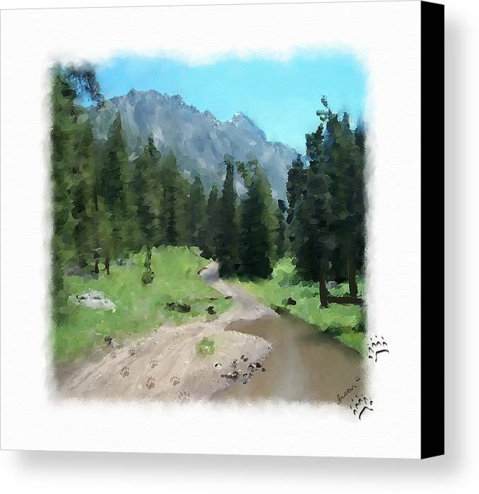 Digital Painting Canvas Print featuring the painting Montana Mudhole by Susan Kinney