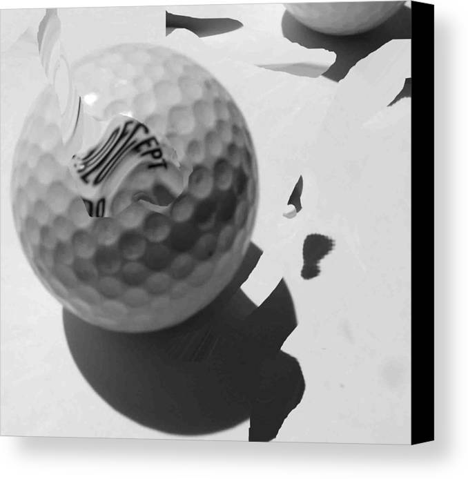 Golf Canvas Print featuring the photograph A Golf Ball On Holiday by Evguenia Men