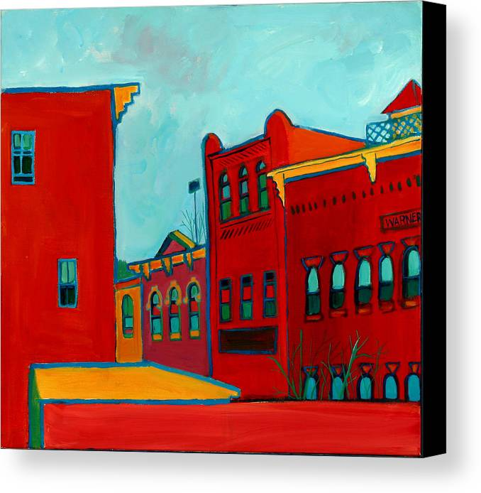 City Canvas Print featuring the painting Opera House by Debra Bretton Robinson
