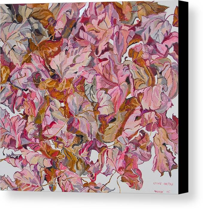 Autumn Canvas Print featuring the painting Autumn Leafes by Vitali Komarov