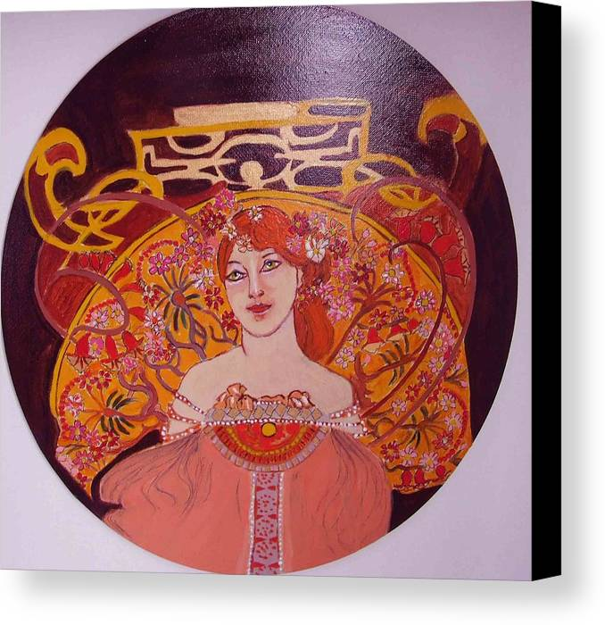 A|rt Nouveau Canvas Print featuring the painting Mazurka by Rusty Woodward Gladdish