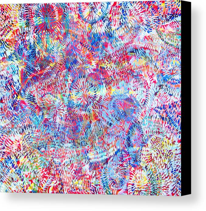 Universe Canvas Print featuring the painting Microcosm by Rollin Kocsis