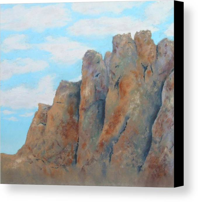 Landscape Canvas Print featuring the painting Smith Rock by Carl Capps