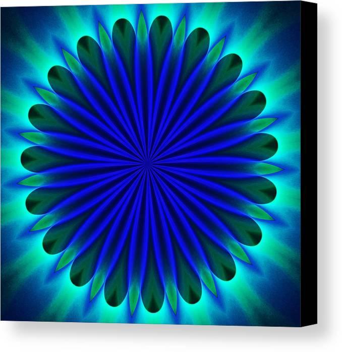 Fine Art Canvas Print featuring the digital art ten minute art 102610B by David Lane