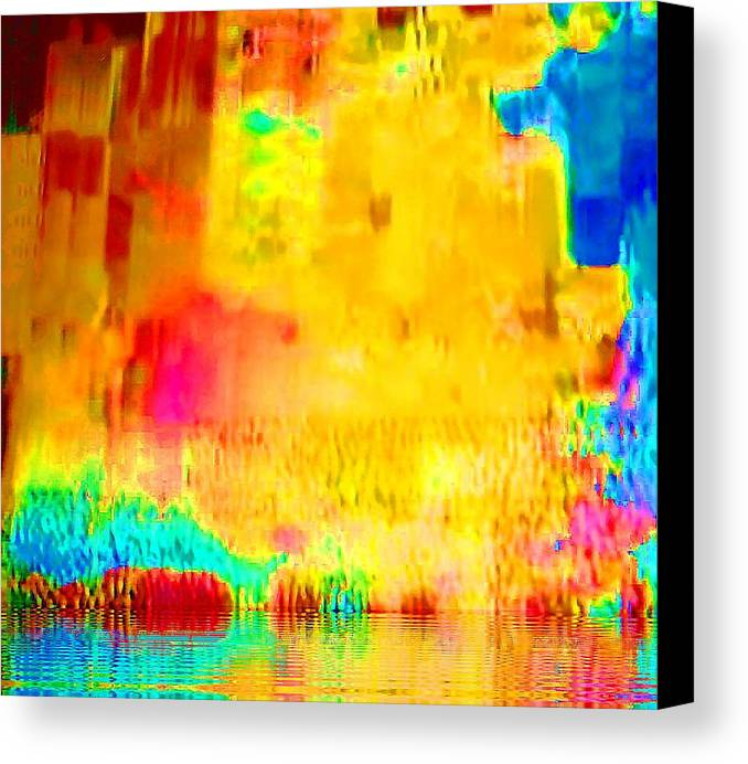 Abstract Canvas Print featuring the photograph Waterworld by Maxwell Kerr
