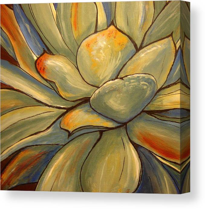 Agave Canvas Print featuring the painting Agave 2 by Jen Jones