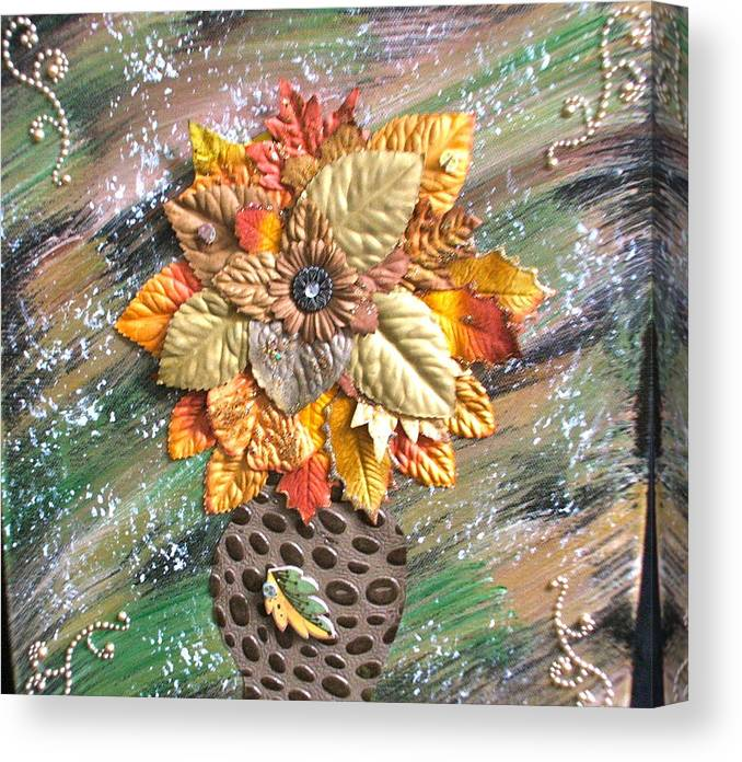 Flowers Canvas Print featuring the painting Hope Flower by Kevin Hogan