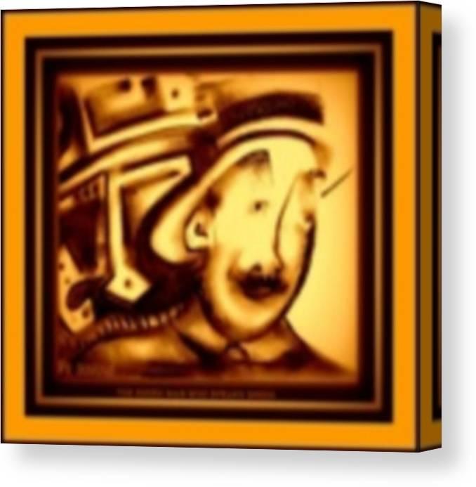 Joan Kamaru Canvas Print featuring the digital art Gold Man by J Kamaru