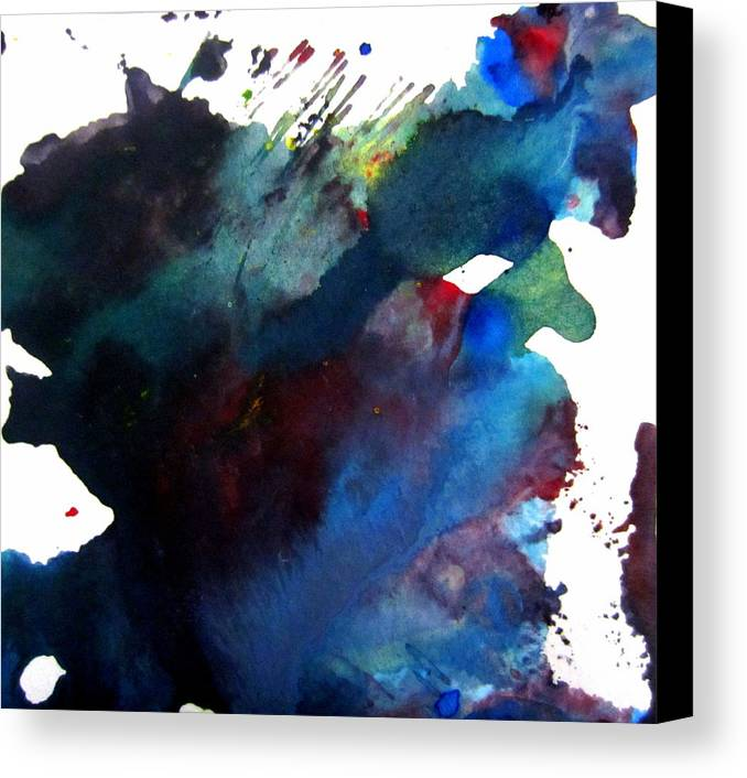 Canvas Print featuring the mixed media Internal War by Aimee Bruno