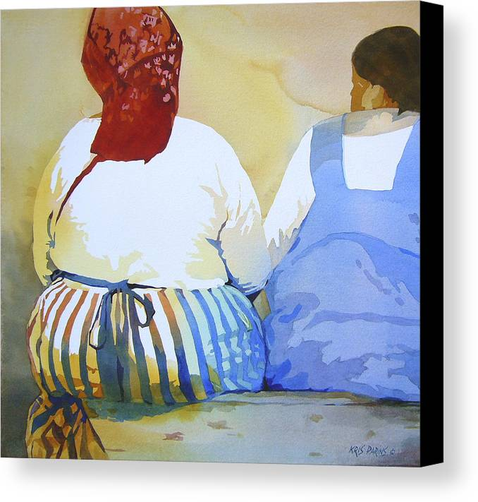 Kris Parins Canvas Print featuring the painting Muchachas by Kris Parins
