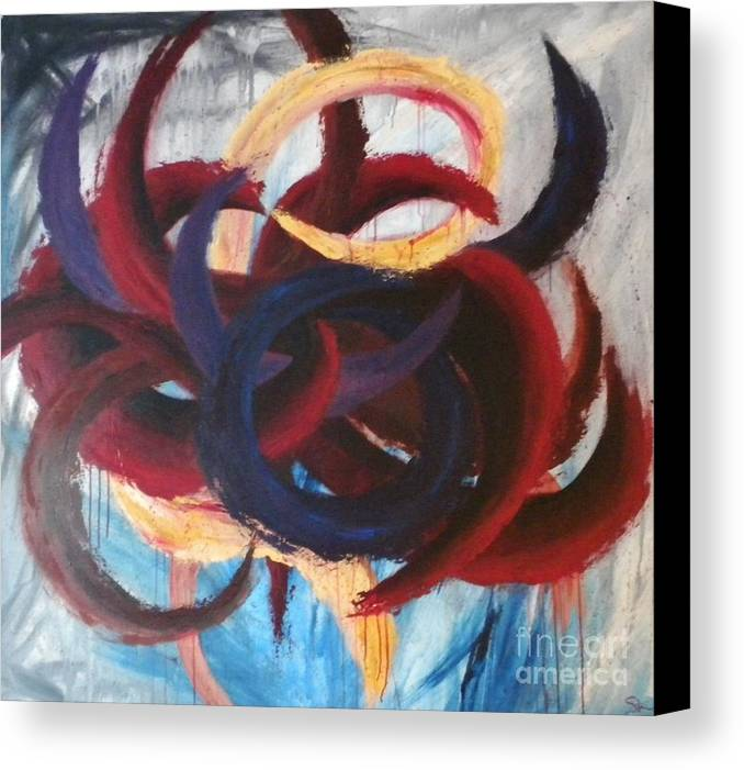 Abstract Canvas Print featuring the painting Self-portrait by Silvie Kendall