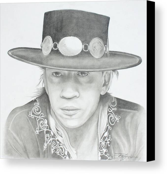 Srv Canvas Print featuring the drawing SRV by Don Medina