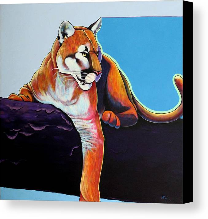 Wildlife Canvas Print featuring the painting The Toll Collector by Joe Triano