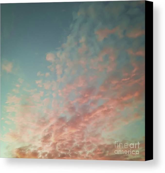 Black & White Canvas Print featuring the photograph Turquoise And Peach Skies by Holly Martin