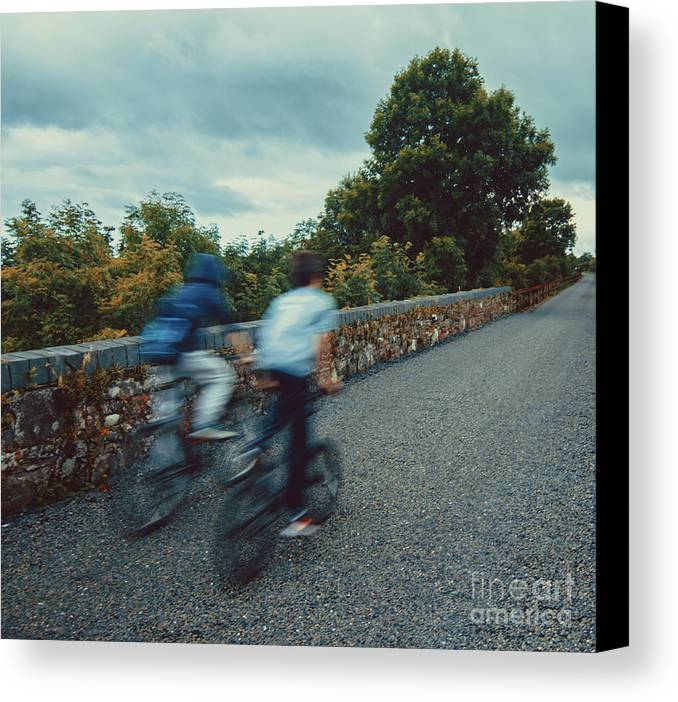 Bikes Canvas Print featuring the photograph Bikes On The Deise Greenway 2 by Marc Daly