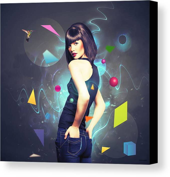 Colors Canvas Print featuring the digital art Colors by Nini Gudadze