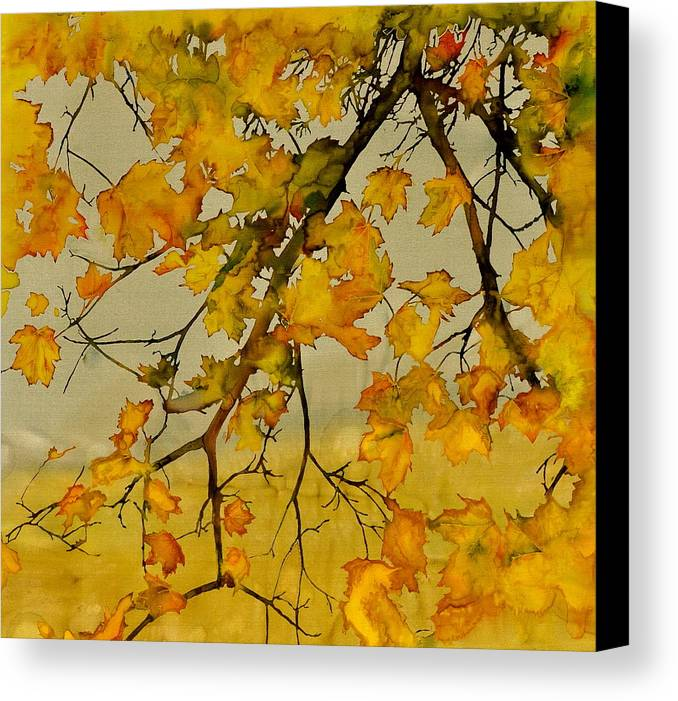 Maples Canvas Print featuring the tapestry - textile Maples In Autumn by Carolyn Doe