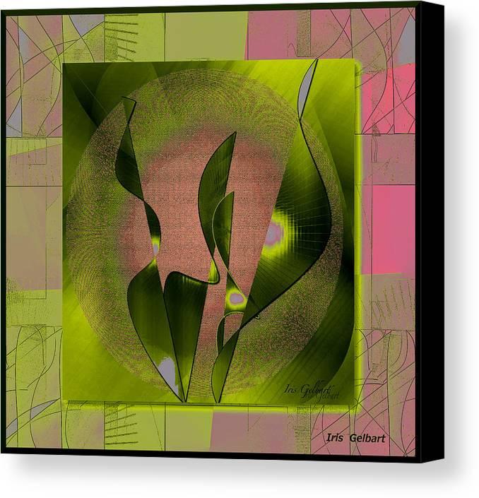 Abstract Canvas Print featuring the digital art Richness #3 by Iris Gelbart