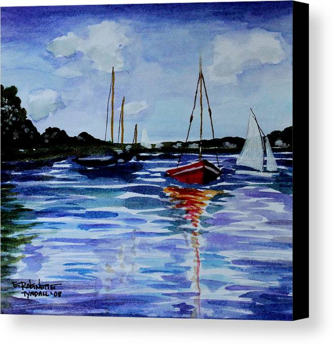 Sailing Canvas Print featuring the painting Sailing Day by Elizabeth Robinette Tyndall