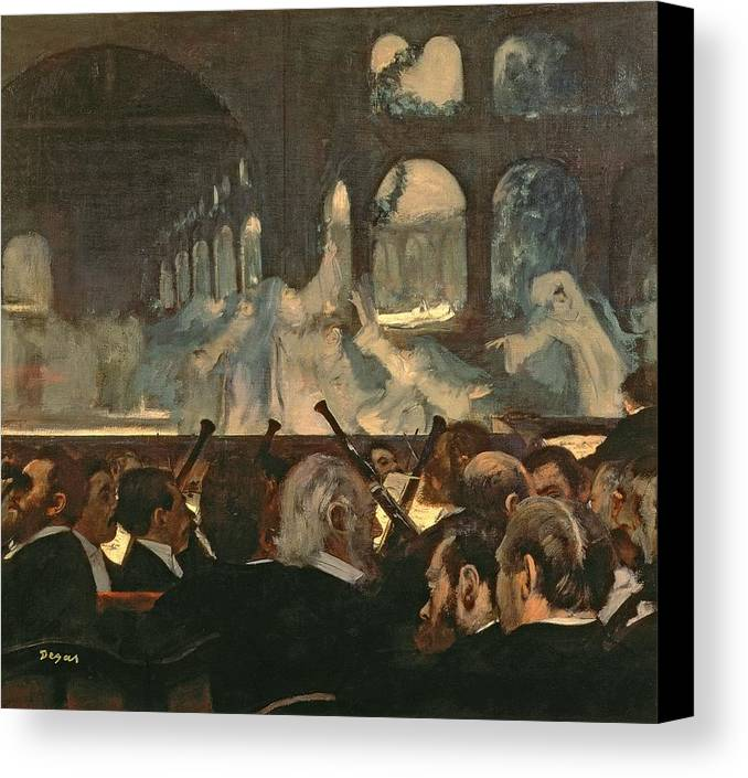 The Canvas Print featuring the painting The Ballet Scene From Meyerbeer's Opera Robert Le Diable by Edgar Degas