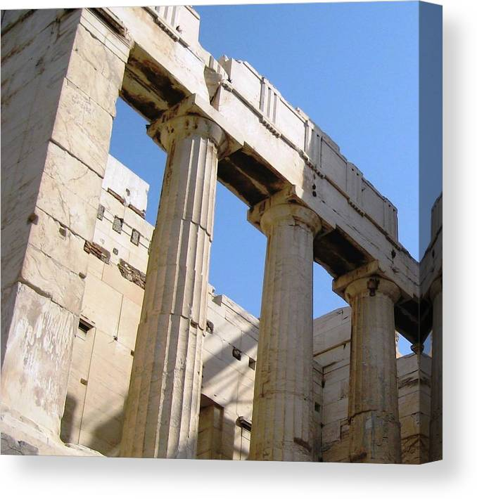 Athens Canvas Print featuring the photograph Parthenon 3 by Teresa Ruiz