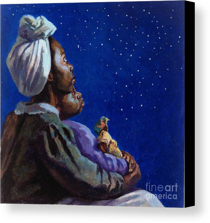 Motherhood Canvas Print featuring the painting Under The Midnight Blues by Colin Bootman