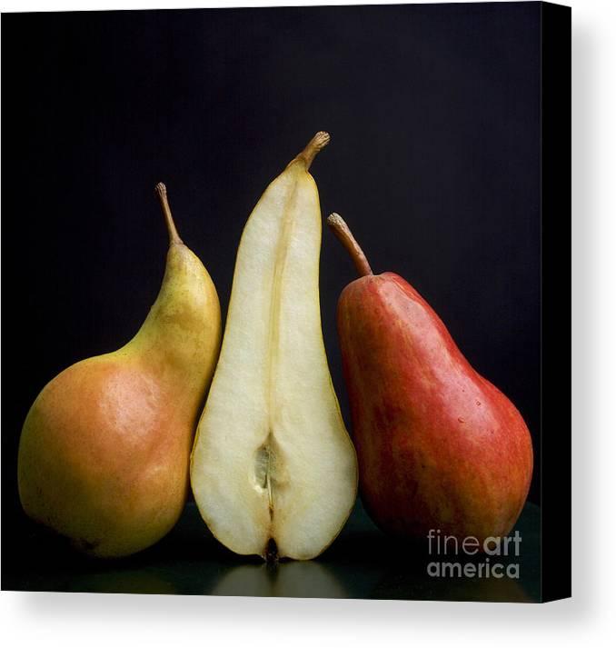 Studio Shot Canvas Print featuring the photograph Pears by Bernard Jaubert