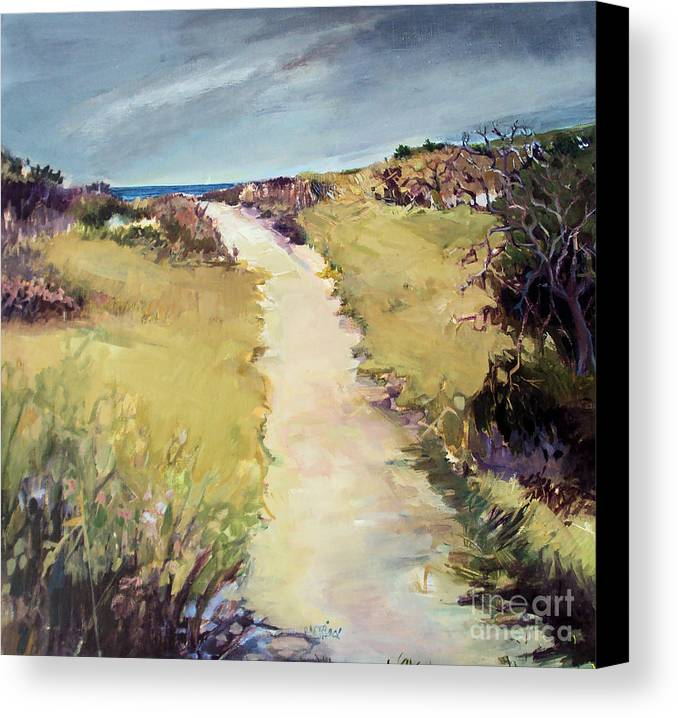 Path Canvas Print featuring the painting Bay Path by Diane Ursin