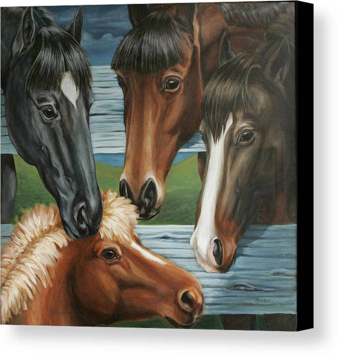 Pony Canvas Print featuring the painting Claras Pony by Colleen Maas-Pastore