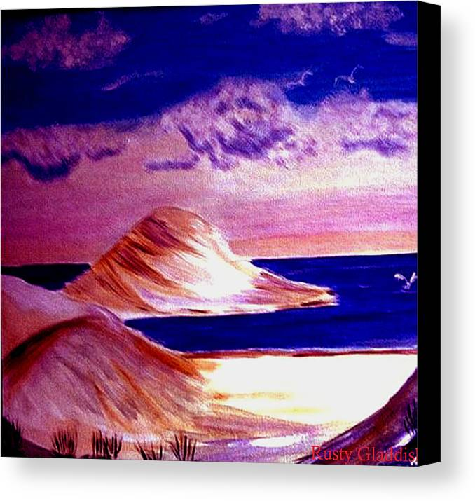 Sand Dunes Canvas Print featuring the painting Dunes by Rusty Gladdish