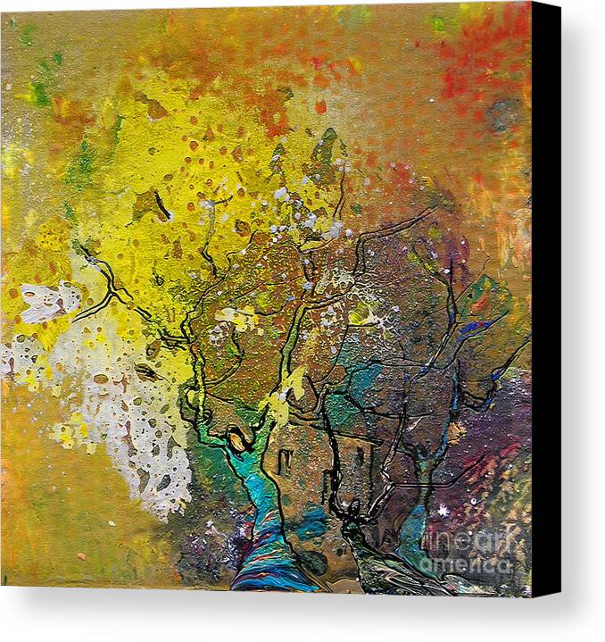 Miki Canvas Print featuring the painting Fantaspray 13 1 by Miki De Goodaboom