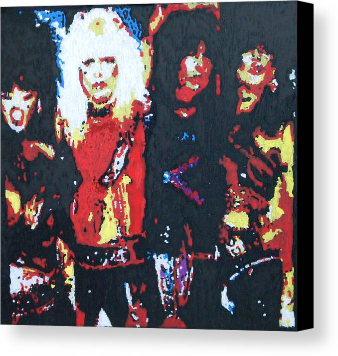 Motley Crue Canvas Print featuring the painting Motley Crue by Grant Van Driest