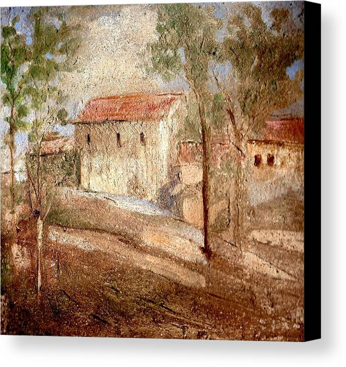 Landscape Canvas Print featuring the painting Umbria by Maria Grazia Repetto