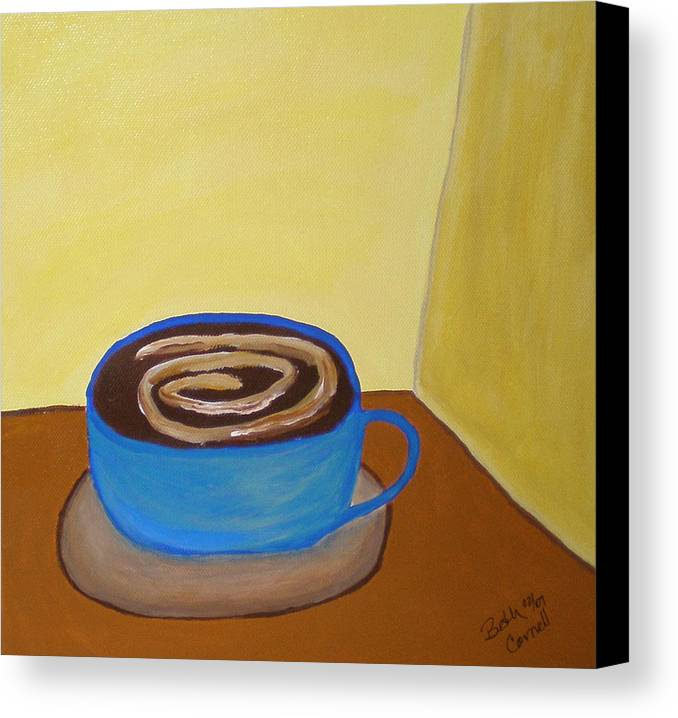 Universal Mocha Canvas Print featuring the painting Universal Mocha by Beth Cornell