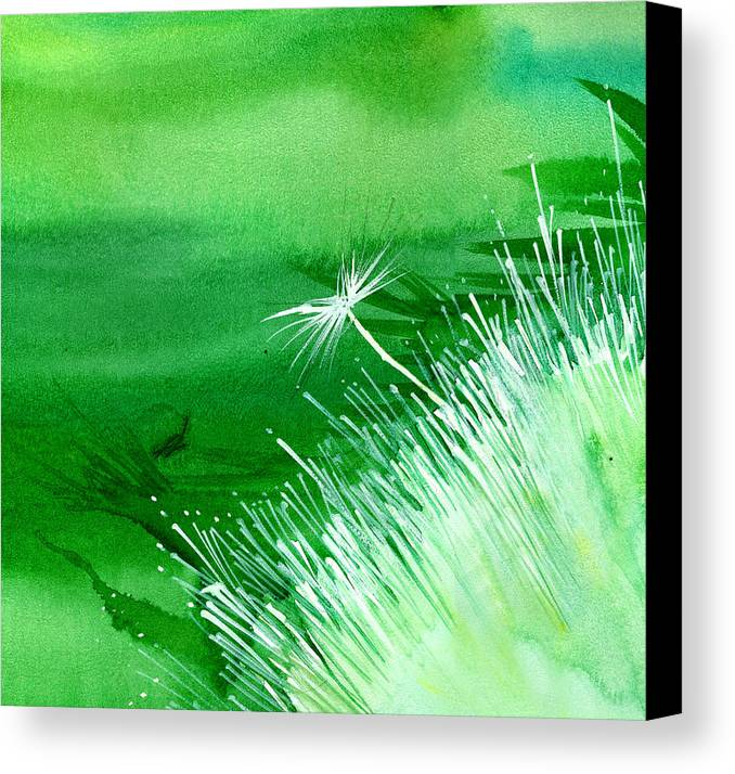 Flowers Canvas Print featuring the painting White Flower by Anil Nene