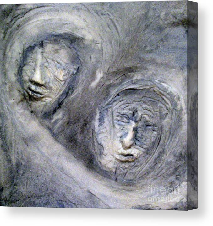 Portraits Canvas Print featuring the painting In The Ice Storm by Kime Einhorn