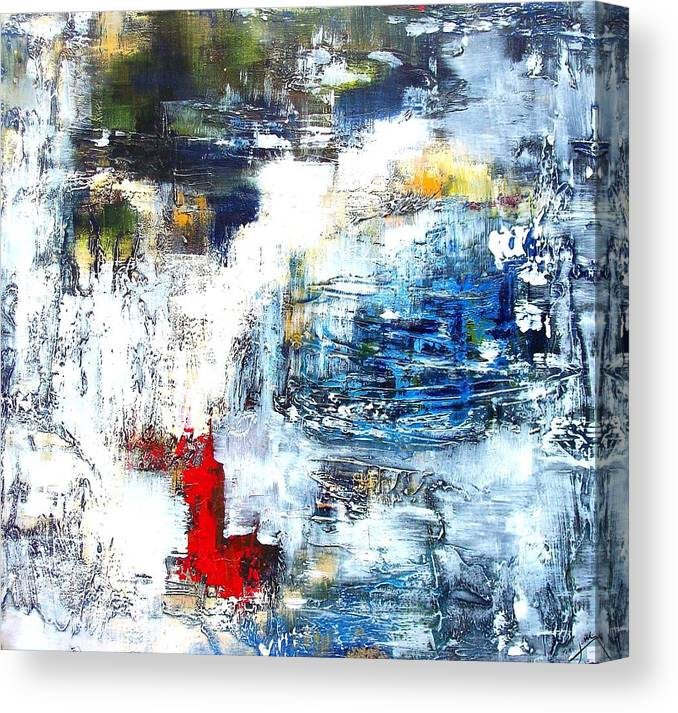Modern Canvas Print featuring the painting Water Water Everywhere by Jane Robinson