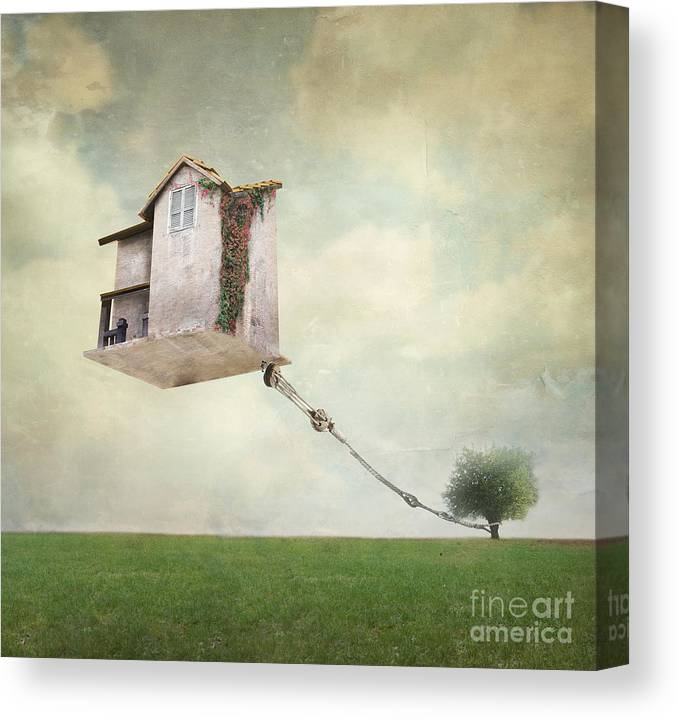 Flight Canvas Print featuring the photograph Artistic Image Representing An House by Valentina Photos