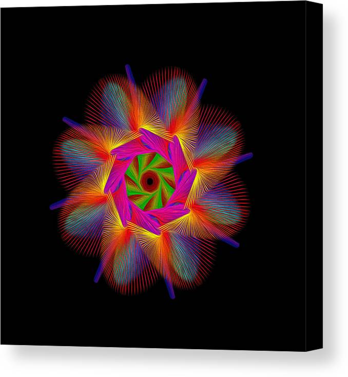 Digital Canvas Print featuring the digital art digital flower 08C08a by Georgios Psarakis