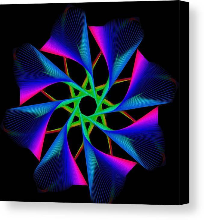 Digital Canvas Print featuring the digital art digital flower 08C08n by Georgios Psarakis