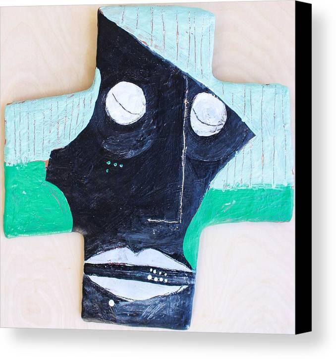 Face Canvas Print featuring the mixed media Exanimus No. 4 by Mark M Mellon