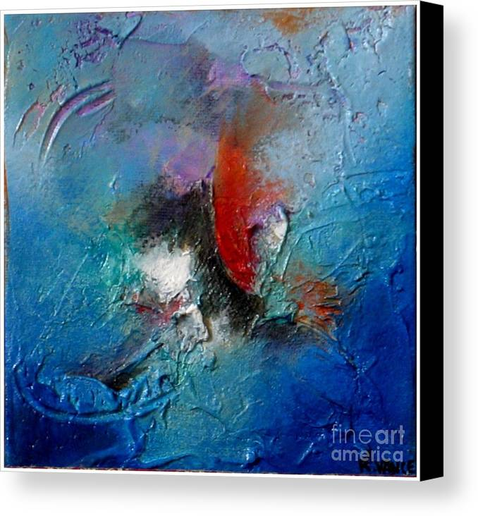 Mixed Media Canvas Print featuring the painting Floating By II by Roy Vance