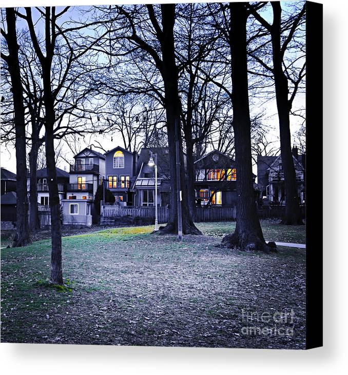 Park Canvas Print featuring the photograph Kew Park At Dusk by Elena Elisseeva