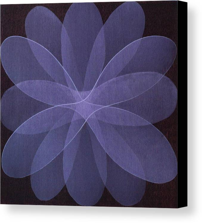 Abstract Canvas Print featuring the painting Abstract Flower by Jitka Anlaufova