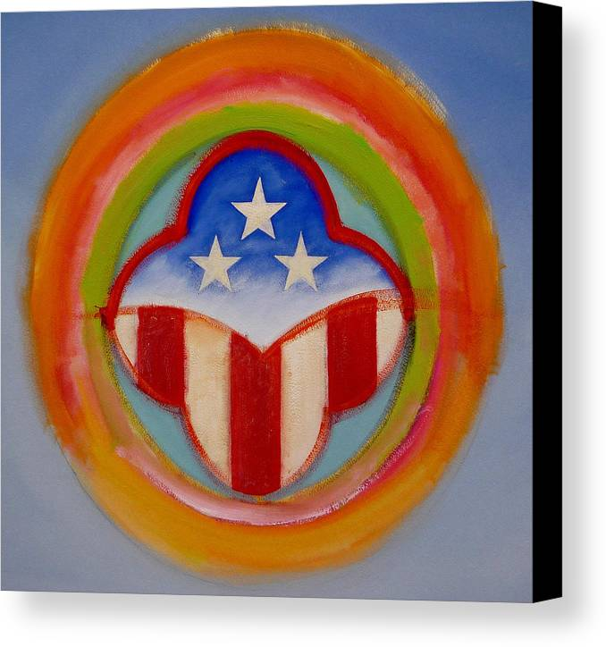 Logo Canvas Print featuring the painting American Three Star Landscape by Charles Stuart