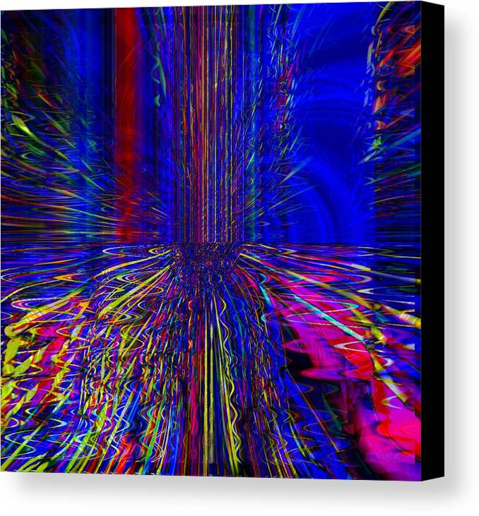 Fania Simon Canvas Print featuring the mixed media Another Level Of Being by Fania Simon
