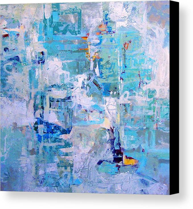 Abstract Canvas Print featuring the painting Blue Beacon by Dale Witherow