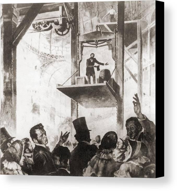 History Canvas Print featuring the photograph Elisha Graves Otis 1811-1861 by Everett