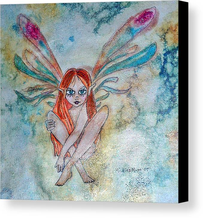 Fairy Canvas Print featuring the painting Fairy Dust by Mickie Boothroyd